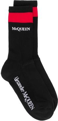 Alexander McQueen Logo Contrasting Socks