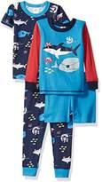 Gerber Toddler Boys' 4 Piece Pajama Set