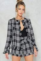 Nasty Gal Ain't Nothin' But a Houndstooth Jacket