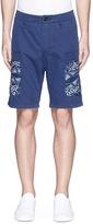 Denham Jeans 'Nato' Katagami panel twill shorts