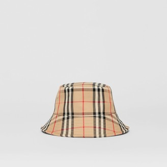 Burberry Vintage Check Cotton Bend Bucket Hat