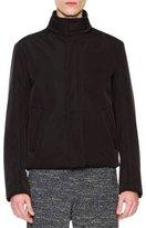 Maison Margiela High-Collar Zip Jacket, Black
