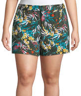 Boutique + + 5 Floral Twill Shorts - Plus