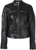 Dolce & Gabbana leather jacket - women - Silk/Goat Skin/Polyester - 44