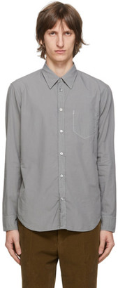 Maison Margiela Grey Garment-Dyed Slim Shirt