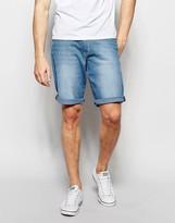 Wrangler Lightwash Shorts In Tropic Wind