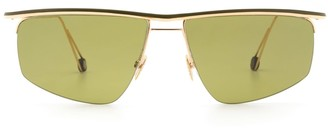 AHLEM Place Des Pyrenees Champagne/green Sunglasses