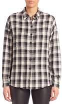 SET Plaid Button-Front Shirt