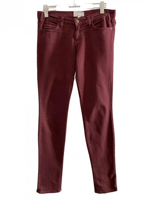 Current/Elliott Current Elliott Burgundy Cotton - elasthane Jeans for Women