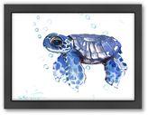 Bed Bath & Beyond Baby Tortoise Blue Framed Art
