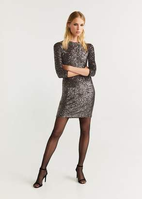 MANGO Sequined dress