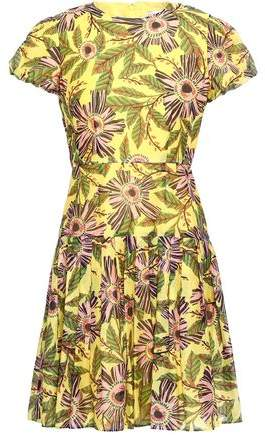 RED Valentino Floral-print Cotton And Silk-blend Dress