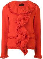 Twin-Set waterfall jacket - women - Cotton/Elastodiene/Polyamide - 40