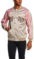 Jaded London Men's Satin Souvenir Bomber Jacket