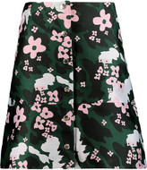 Markus Lupfer Floral-jacquard mini skirt