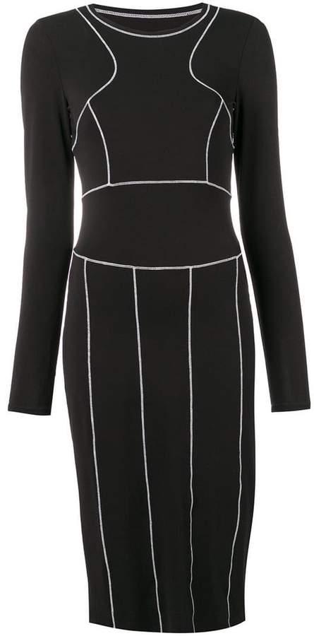 Maison Margiela white stitched black dress