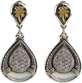 Konstantino Asteri Pave White Diamond & Mother-of-Pearl Double-Drop Earrings