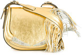 Roberto Cavalli fringed shoulder bag - women - Leather/glass - One Size