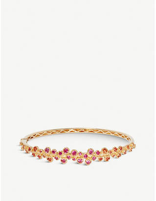 Annoushka Hidden Reef 18ct yellow-gold and sapphire bangle
