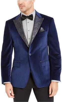 Tallia Men Blue Velvet Dinner Jacket