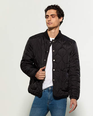American Stitch Button Front Quilted Jacket