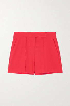 Alice + Olivia Alice Olivia - Dylan Pintucked Crepe Shorts - Red
