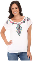 Roper 9775 Solid Georgette Top - White