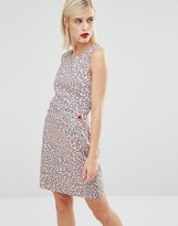 Love Moschino Pink Leopard Print Dress