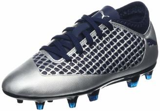 Puma Kids' Future 2.4 FG/AG Jr Footbal Shoes Silver-Peacoat 10 UK