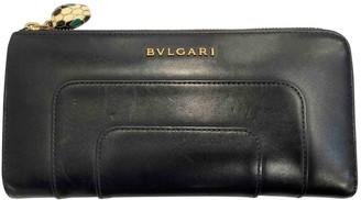 Bvlgari Serpenti Black Leather Wallets
