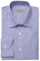 Canali Striped Spread Collar Dress Shirt