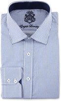 English Laundry Check Long-Sleeve Dress Shirt, Navy
