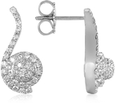 Forzieri 0.68 ctw Diamond Pave 18K White Gold Earrings