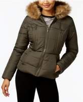 Celebrity Pink Juniors' Faux-Fur-Trim Puffer Coat