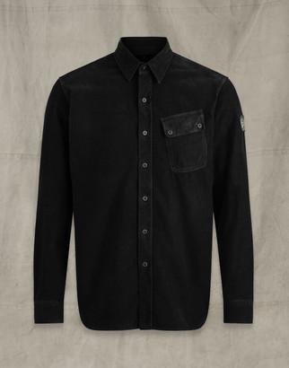 Belstaff PITCH CORDUROY SHIRT Black 3XL