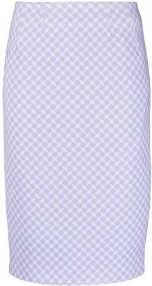 Elisabetta Franchi Micro-Pattern Pencil Skirt