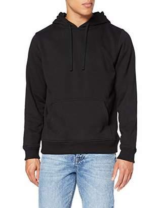 Build Your Brand Men's Merch Hoody Jacket, Black 00007, XXXX-Large