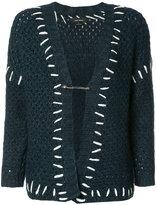 Isabel Marant stitch-detail knitted cardigan - women - Cotton/Acrylic/Polyamide/Wool - 36