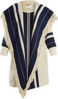 Chloé Striped cotton and wool-blend blanket coat