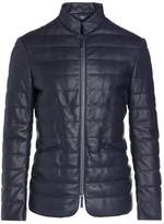Armani Collezioni Leather jacket grau