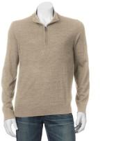 Apt. 9 Men's Modern-Fit Merino Wool-Blend Quarter-Zip Sweater