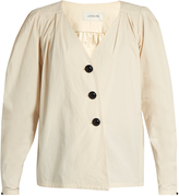 Lemaire Deep V-neck cotton blouse