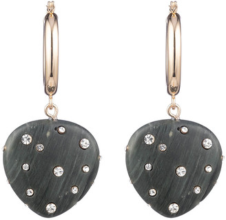 Dannijo Huggie Resin Drop Earrings