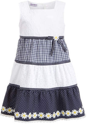 Blueberi Boulevard Toddler Girls Gingham Daisy Dress