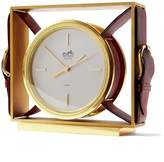 Banana Republic LUXE FINDS | Hermes Burgundy Gold Clock