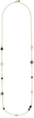 Anna Beck 18K Gold Plated Sterling Silver Hematite & Sapphire Station Necklace