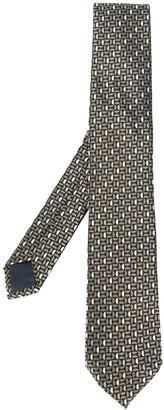 Ermenegildo Zegna Geometric Jacquard Silk Tie