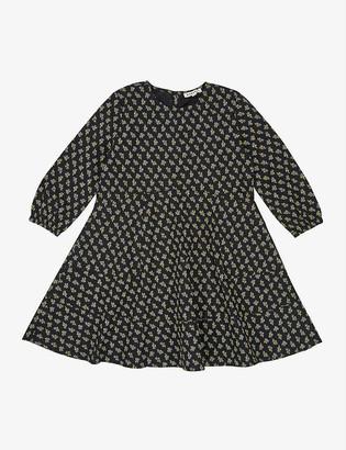 Caramel Crane flared stretch-cotton dress 3-12 years