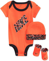 Nike Baby Boys' 3-Piece Orange Bodysuit, Hat & Booties Set