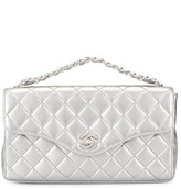 Chanel Pre Owned diamond quilted CC tote